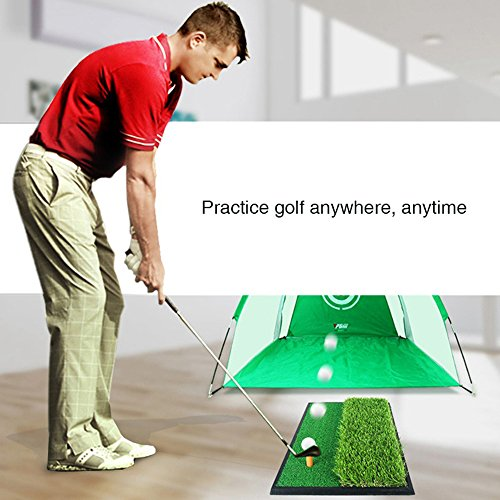 Foxcesd Golf Mat, Golf Hitting Mat with Realistic Fairway & Rough Portable Golf Practice/Training Turf Mat Mini Golf Green Grass Putting Mats for Indoor and Outdoor Golf Sports 12'' x 24'' by Foxcesd (Image #4)