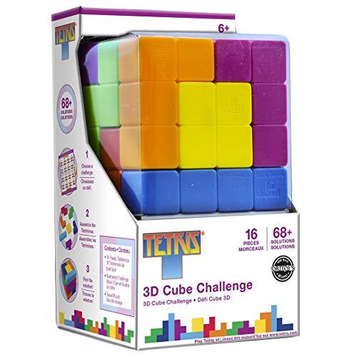 MasterPieces Tetris Brainteaser Cube 3D Puzzle, 16-Piece