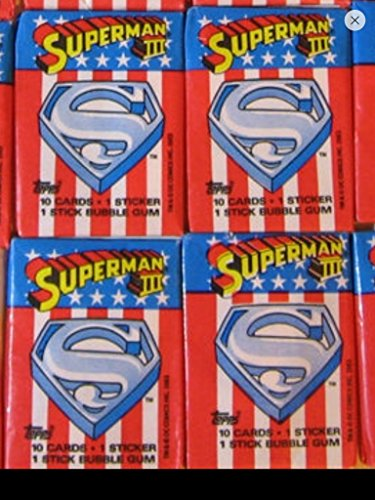 Superman 1983 Lot (4) Wax Packs Topps Trading Cards Stickers Non-sport Retro from Topps