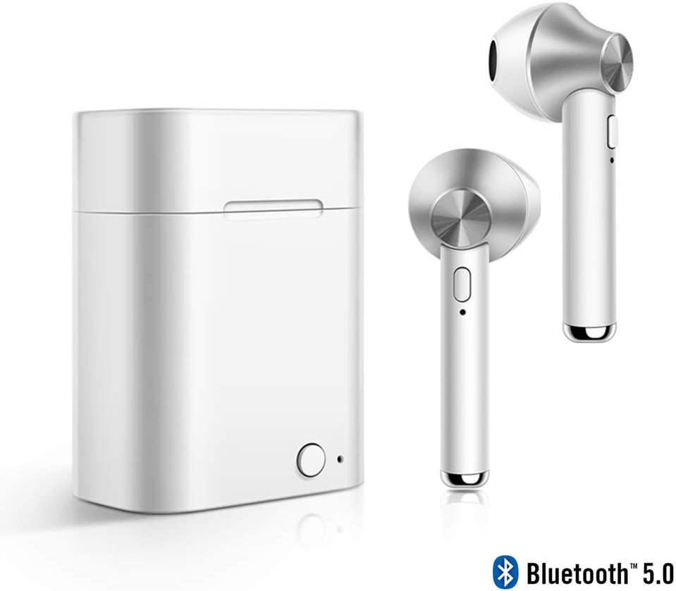 MUSSON Auriculares Inalambricos Bluetooth, Auriculares Bluetooth Deportivos v5.0 con Batería 500mAh Hi-Fi Estéreo écouteur con Micrófono para Android iOS Samsung iPhone Huawei Sony HTC CE29