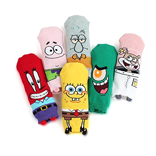 SpongeBob & Friends Ankle Socks(6-pack) size 6-8 OL]()