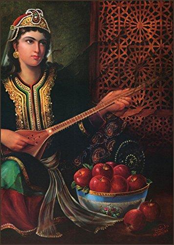 Hojat Shakiba: 9.1/2 X 13 inches W/border Art Print # - Museum 90's