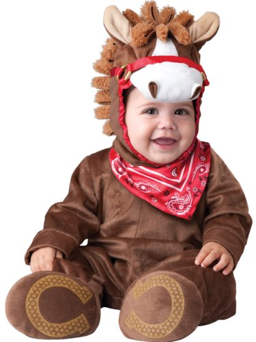 InCharacter Baby Boy's Playful Pony Costume, Brown, Large (18months-2T)