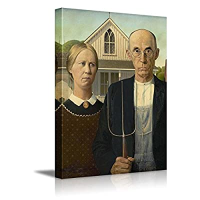Crafted to Perfection, Wonderful Object of Art, American Gothic by Grant Wood