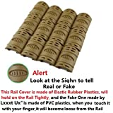 12 Piece Hand Guard Quad Rail Covers FDE TAN, Outdoor Stuffs