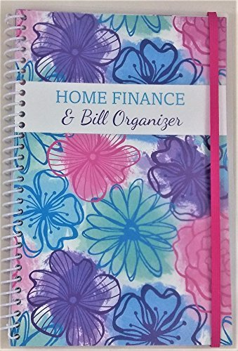 Home Finance amp Bill Organizer with Pockets Watercolor Flowers