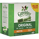 Greenies Original Petite Dental Holiday Dog Treats, 36 Oz. Pack (60 Treats), Makes A Great Holiday Dog Gift