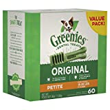 GREENIES Original Petite Natural Dental Dog Treats, 36 oz. Pack (60 Treats)