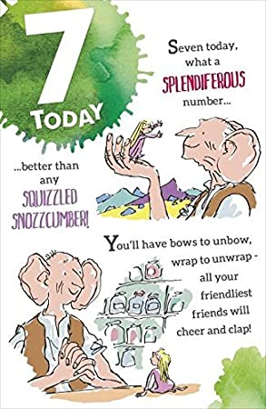 Roald Dahl Bfg 7th Birthday Card Amazon Office Products