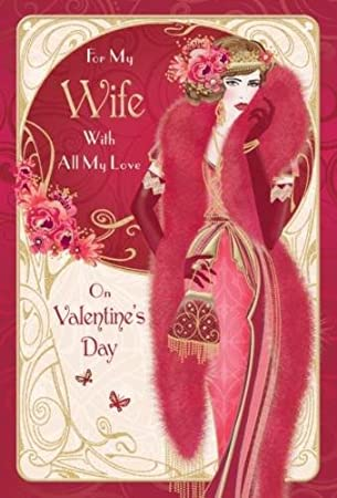 Art deco style card for my wife with all my love on valentines art deco style card for my wife with all my love on valentines day greetings m4hsunfo