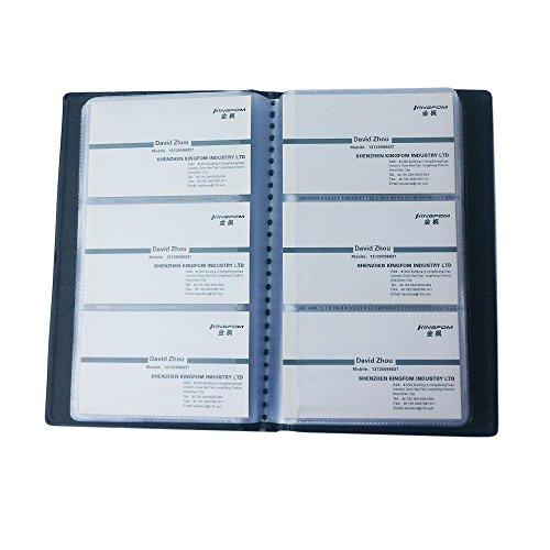 KINGFOM™ Business PU Leather Journal Name Card Book Holder