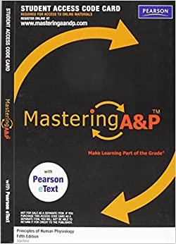 MasteringA&P with Pearson eText -- ValuePack Access Card -- for Principles of Human Physiology