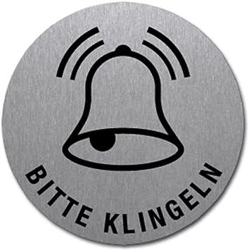 Edelstahl Ø 5 cm Schild ERSTE HILFE mit Symbol und Text selbstklebend