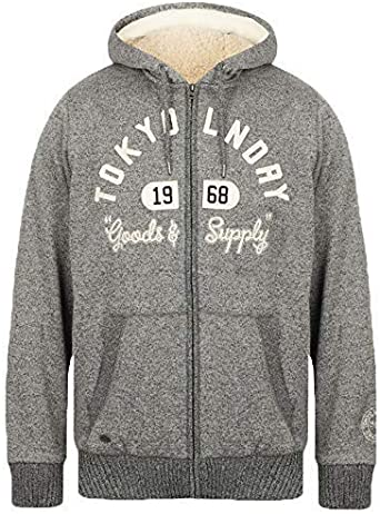 Tokyo Laundry Men/'s Zip Up Fleece Lined Hoodie Hooded Top Hoody Warm Winter