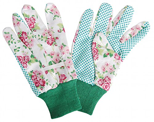 Esschert Design USA Rose Print Cotton Garden Gloves