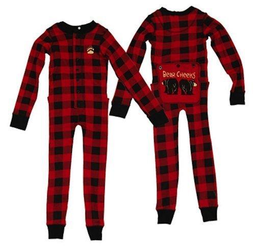 Lazy One Kid Toddler Pajama's Pjs Plaid Bear Cheeks Flapjack - 2T by Lazy One