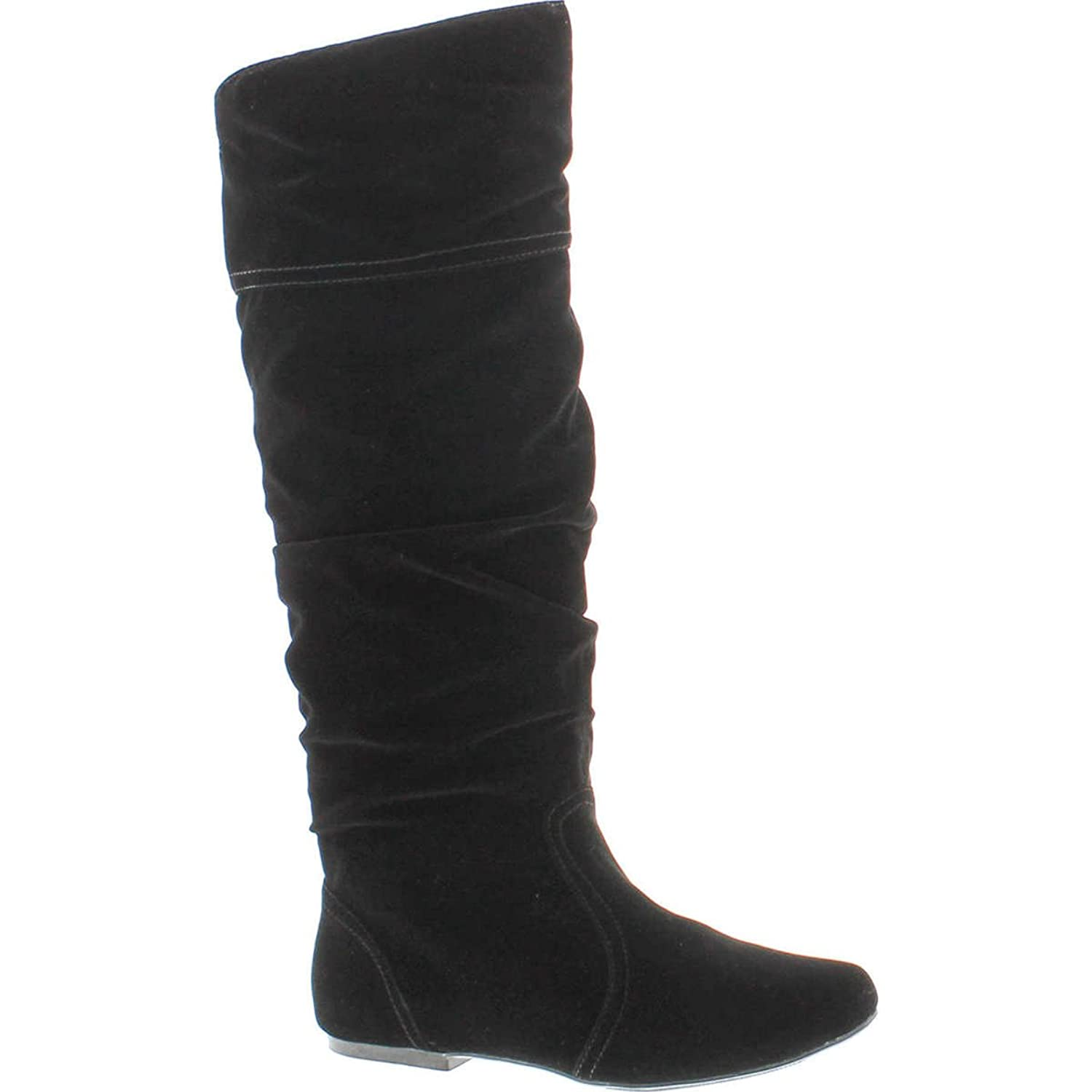 The Best Saigon Slouchy Mid-Calf Flat BootsLeopard Suede75 ORIGINAL West Blvd