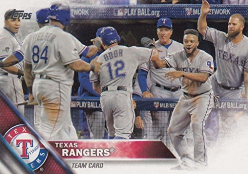 Texas Rangers 2016 Topps MLB Baseball Regular Issue Complete Mint 24 Card Team Set with Prince Fielder, Adrian Beltre, Yu Darvish Plus
