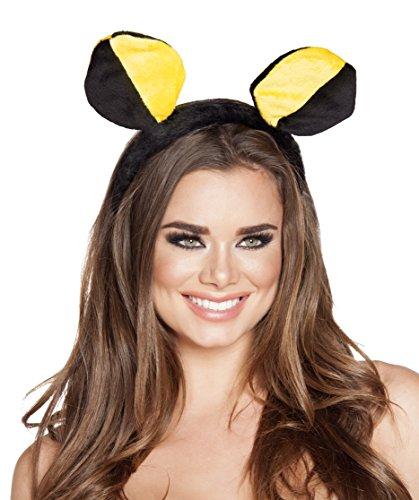Roma Costume Women's Yellow Black Bumble Bee Head Piece, Yellow/Black, One Size