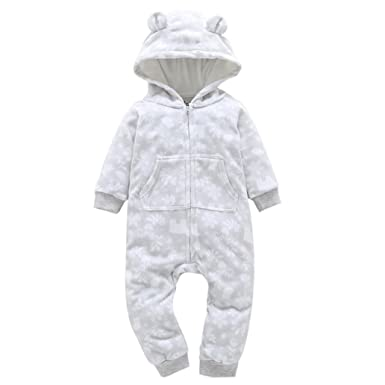 c6823b261 Toddler Autumn Winter Overalls Infant Baby Boy Girl Zipper Thicker Snowsuit  Hooded Jumpsuit Outwear Clothes 6
