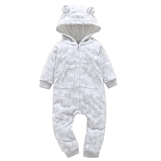 d541a7afba9a7 Toddler Autumn Winter Overalls Infant Baby Boy Girl Zipper Thicker Snowsuit  Hooded Jumpsuit Outwear Clothes 6