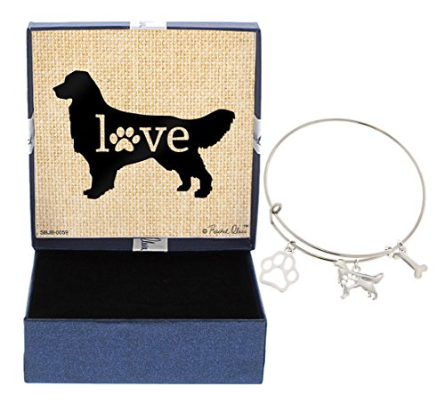 - Golden Retriever Bracelet Gift Love Dog Breed Adjustable Bangle Charm Silver-Tone Bracelet Gift Golden Retriever Owner Jewelry Box Keepsake