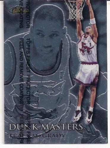 (1999-2000 NBA Topps Finest Tracy McGrady Dunk Masters Insert Card # DM7 Limited Edition 052/750 W/Protective Coating! Toronto Rapters, Houston Rockets, Orlando Magic, New York Knicks, Detroit Pistons, Atlanta Hawks)