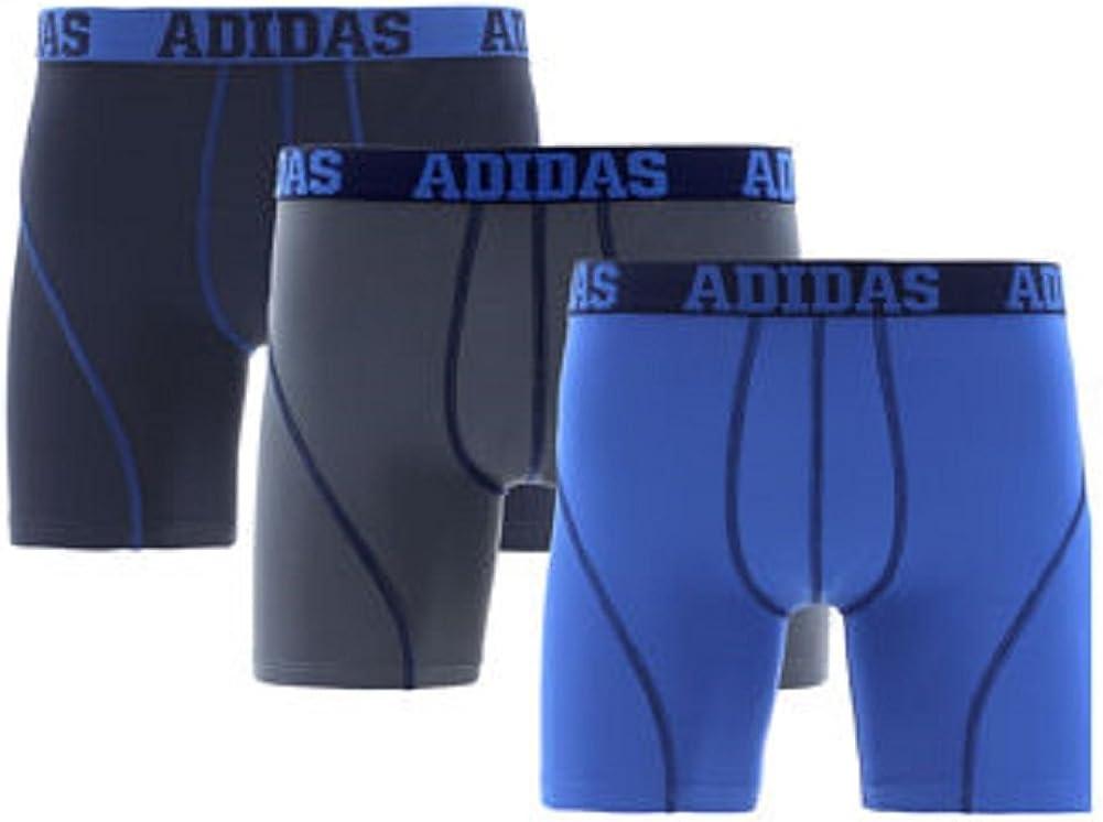 personal Especificado Superficie lunar  Amazon.com: Adidas Men's Climate Performance Boxer Brief Underwear  (3-Pack): Clothing