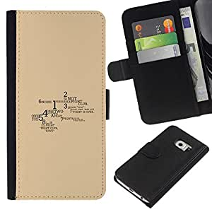 NEECELL GIFT forCITY // Billetera de cuero Caso Cubierta de protección Carcasa / Leather Wallet Case for Samsung Galaxy S6 EDGE // Lucha Reglas del Club