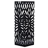 Songmics Metal Umbrella Stand Long/Short Umbrella Rack Free Standing Holder for Canes/Walking Sticks, with Drip Tray/2 Hooks, Black 49 cm x 15.5 cm LUC48B