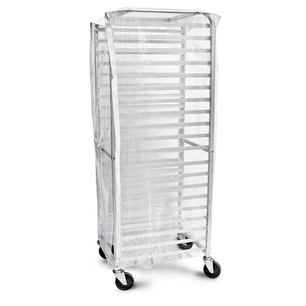 Bags & Covers, Bakery Pan Rack Cover, Heavy Duty Plastic, 3 Zippers, 23'' W x 28'' L x 61'', Made in USA by WWW.LAUNDRYBAGSONLINE.COM YOUR LOCAL MANUFACTURER
