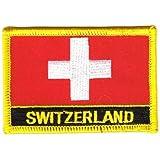 Flaggen Aufnäher Patch Schweiz Schrift Fahne NEU