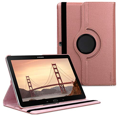 kwmobile 360° Case for Samsung Galaxy Note 10.1 2014 Edition - PU Leather Protective Tablet Cover with Stand Function - Rose Gold