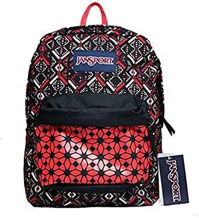 JanSport T501 Superbreak Backpack - Coral Dusk Tribal Mosiac