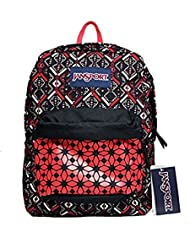 JanSport T501 Superbreak Backpack - Coral Dusk Tribal Mosiac