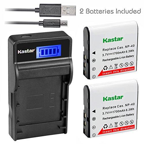 (Kastar Battery X2 & SLIM LCD Charger for Kodak LB-06 LB06 LB-060 LB060 PixPro AZ251 AZ365 AZ421 AZ525, Casio Exilim Zoom EX-Z650, HP V5060 V5061 V556 V556AU V5560 V5560U V5560AU, BENQ Dli-202 DLi202 )
