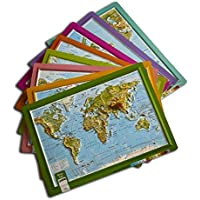 Gürbüz Yayınları 26003 A4 Kabartma Dünya Atlası