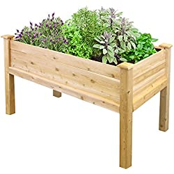 "Greenes Fence Elevated Garden Bed, 48"" L x 24"" W x 31"", Cedar"