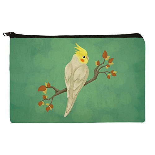 Charming Cockatiel Yellow Crest Makeup Cosmetic Bag Organize