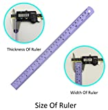 POP-up Aluminum Ruler 12 inch, 4 Pieces, Colorful