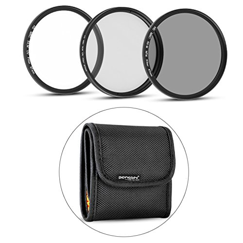 67MM Professional Photography Lens Filter Kit (Ultra-thin UV, Ultra-thin Neutral Density ND4, CPL ) for DSLR Camera Lenses with 67mm Filter Thread with Filter Pouch by pangshi