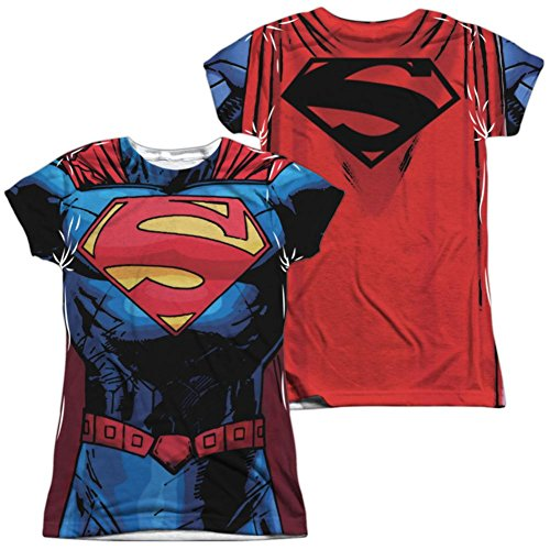 Juniors: Superman- New 52 Costume Tee (Front/Back) Juniors (Slim) T-Shirt Size S -