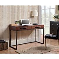 Homestar Horatio Computer Desk with 2 Drawers & Metal Base
