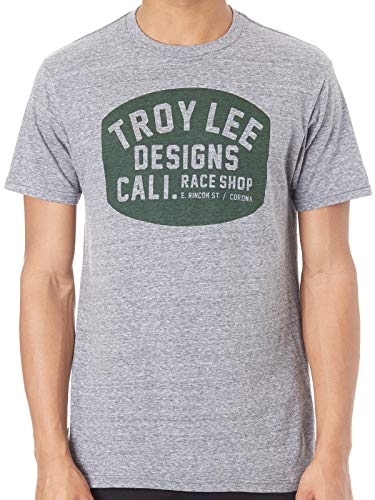 Troy Lee Designs Men's Blockworks T-Shirt (Large, Vintage Gray Snow)