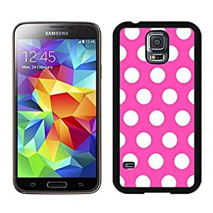Samsung Galaxy S5 Case Polka Dot Rose Red and White Soft Durable TPU Black Phone Cover Speck for Girls