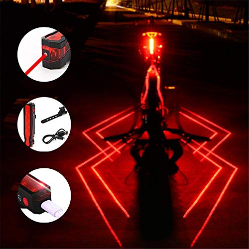 (nattiness Bike Spiderman Taillight USB Charging Night Riding Warning Light Lamp)