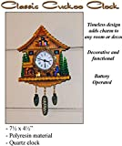 Mini Classic Cuckoo Clock 7 1/2'' x 4 1/2'' Perfect for any Room!