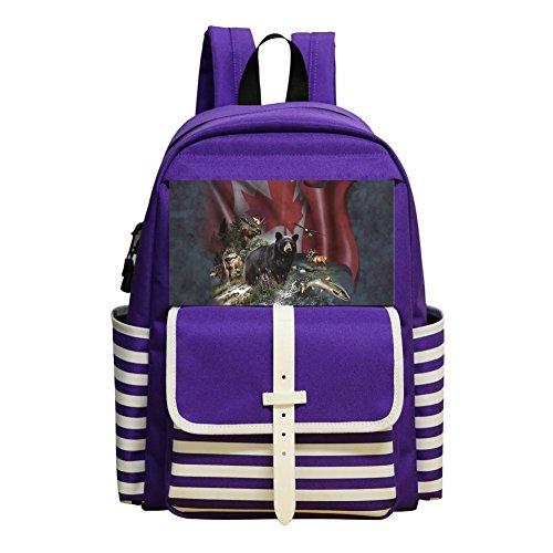 Mini School Backpack For Kindergarten Unisex Kids,Print Canada The Beautiful,Purple