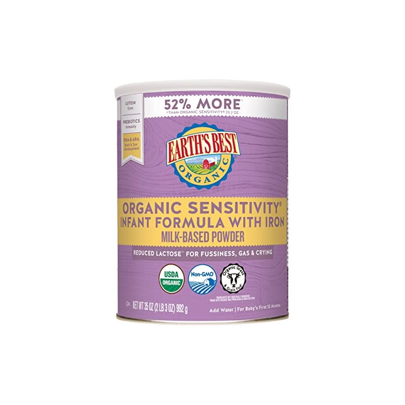 Earth's Best Organic Low Lactose Sensiti