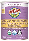 Earth's Best Organic Low Lactose Sensitivity Infant Formula with Iron, Omega-3 DHA & Omega-6 ARA, 35.0 Ounce